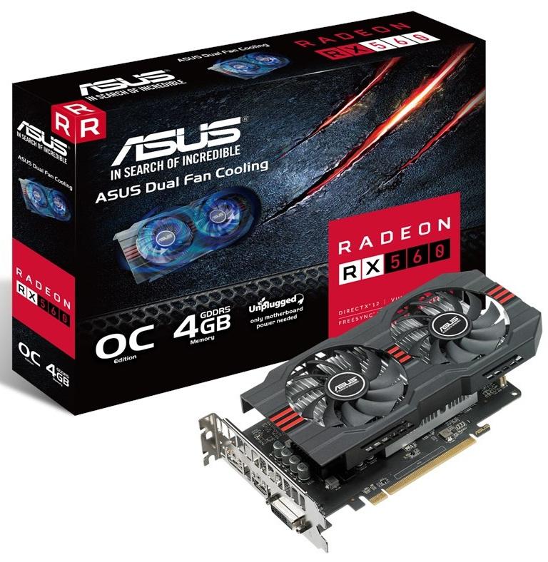 کارت گرافیک ایسوس مدل آر ایکس ۵۶۰ O۴G اوو با حافظه ۴ گیگابایت | ASUS RX560-O4G-EVO Graphics Card