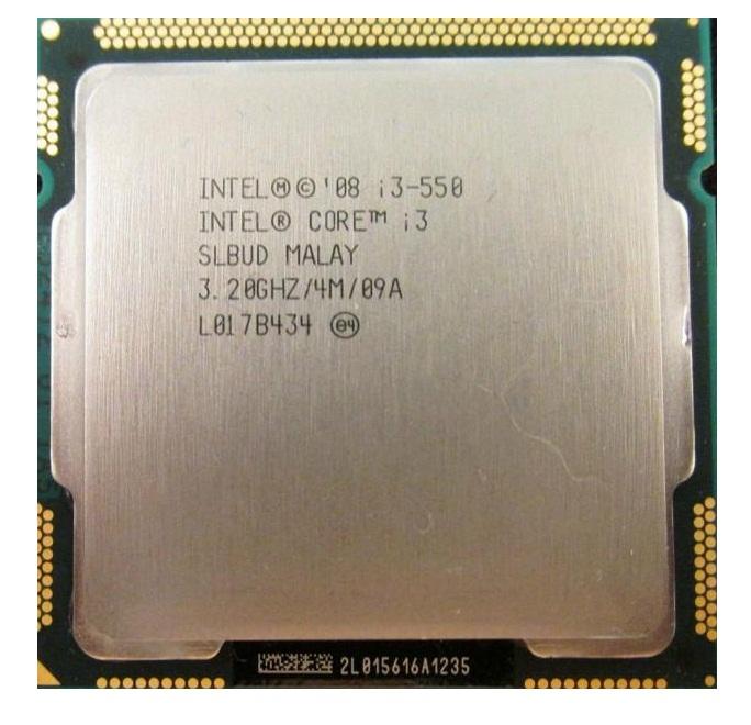سی پی یو اینتل مدل Core i۳-۵۵۰ با فرکانس ۳.۲۰ گیگاهرتز   Intel Core i3-550 3.2GHz LGA 1156 Clarkdale TRAY CPU