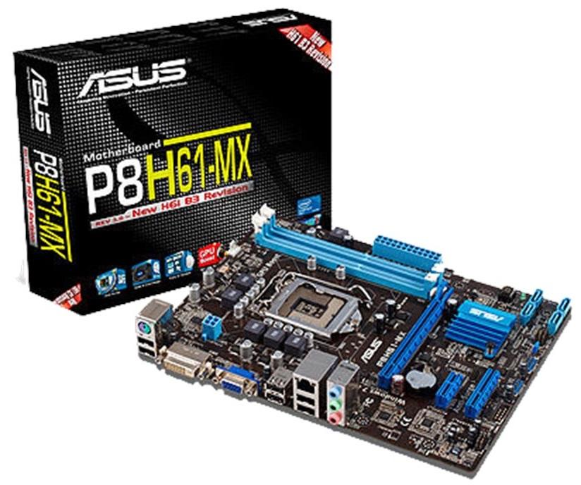 مادربرد ایسوس مدل پی۸ اچ۶۱ ام ایکس | ASUS P8H61-MX LGA 1155 Motherboard