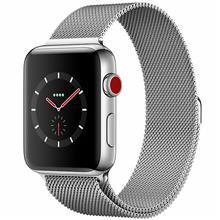ساعت هوشمند اپل واچ سری 3 سلولار مدل 42mm Stainless Steel Case with Milanese Loop   Apple Watch Series 3 Cellular 42mm Stainless Steel Case with Milanese Loop