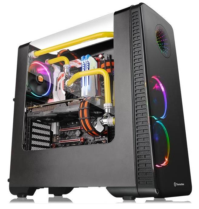 کیس ترمالتیک مدل View ۲۸ RGB Riing Edition | Thermaltake View 28 RGB Riing Edition Gull-Wing Window ATX Mid-Tower Case