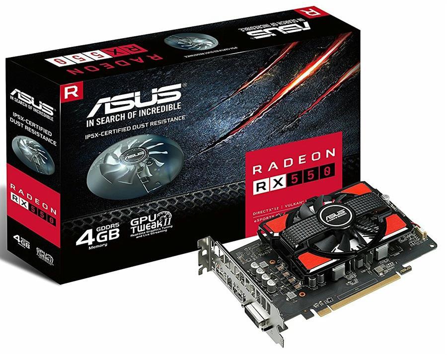 کارت گرافیک ایسوس مدل آر ایکس ۵۵۰ با حافظه ۴ گیگابایت | ASUS RX550-4G GDDR5 Graphics Card
