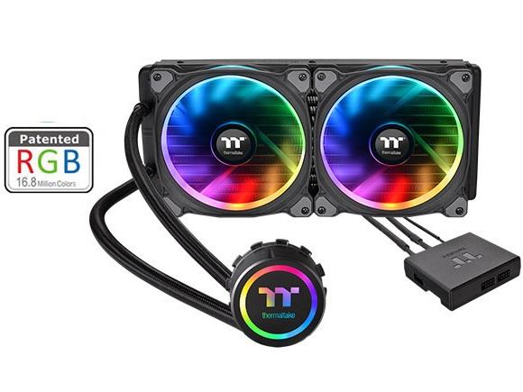 خنک کننده مایع پردازنده ترمالتیک مدل Floe Riing RGB ۲۸۰ TT Premium Edition | Thermaltake Floe Riing RGB 280 TT Premium Edition All-in-One Liquid CPU Cooler